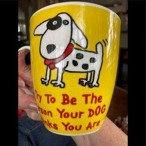 Gourmet Basics Grimm Yellow Doggie Large Mug
